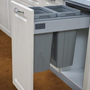 Dual Pull Out Trash Bin (450mm)